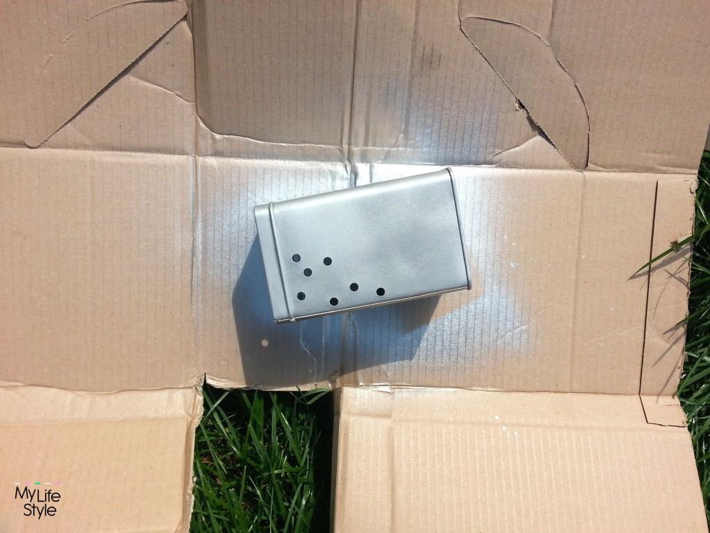 DIY - srebrny pojemnik