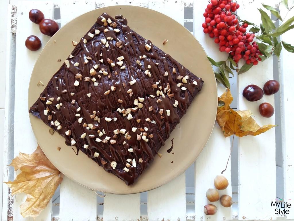 Murzynek z czekoladą i orzechami