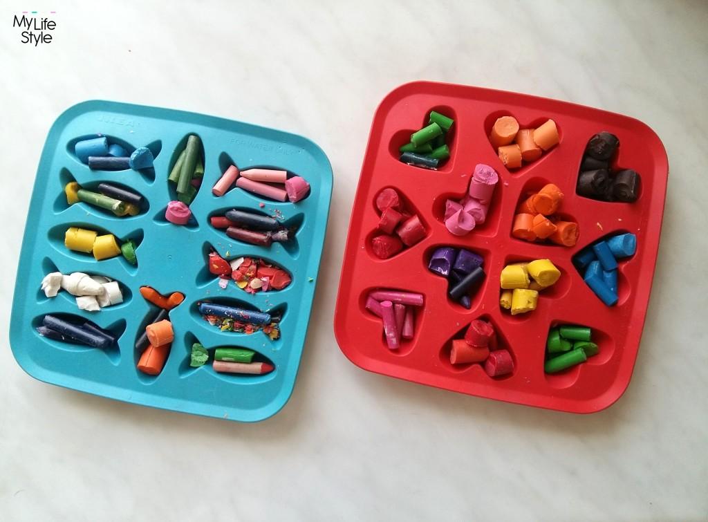 DIY - serduszka i rybki z kredek świecowych