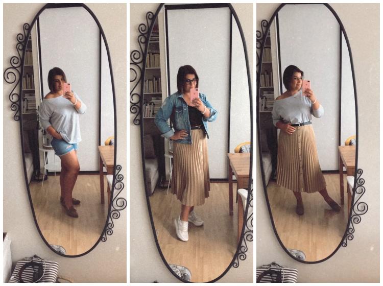 Stylizacje ze spódnicą